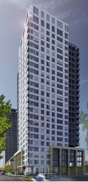 The tower will have 169 condominiums.