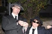 Protip: To be the Blues Brothers, you MUST wear hats. Otherwise, everyone will think you're the Men in Black.