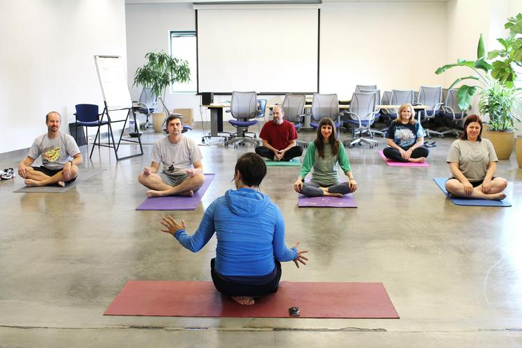 Pair Networks Inc.'s Quality of Life Fund has encouraged a more active lifestyle, leading the company to offer new programs such as yoga classes.