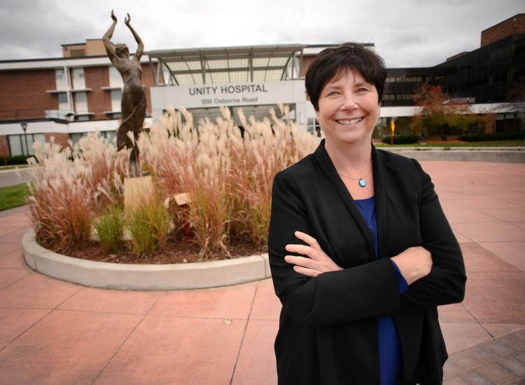 Helen Strike, president of Unity Hospital, has more than 25 years of experience in the health care industry.