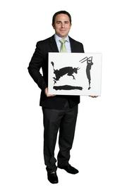"""Craig Ceccanti  I brought a recreation of Picasso's """"Bullfight III."""" Without a bull there is no fight.  Houston's growing economy provides enough bull for many Houstonians to find their fight, and the painting is my reminder for the support, training and experience Houston has provided."""