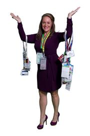 Holly Clapham-Rosenow  I have collected quite a few lanyards throughout my career.  If you come to my office, you will see them hanging on my wall.  It's fun to look through them and remember when.