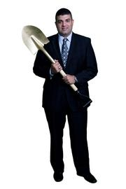 Karl Mistry  The gold shovel represents the responsibility, as homebuilder and developer, we have to create beautiful, functional and timeless places to live.