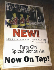 Lift Bridge says posters in Twin Cities bars are making customers confuse its Farm Girl beer with Lucette's Farmer's Daughter.