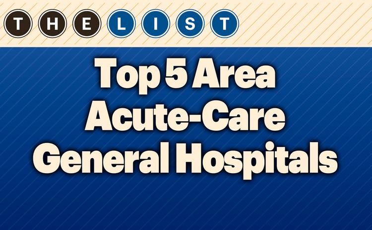 This week, the Kansas City Business Journal ranks the area's acute-care general hospitals by 2012 gross operating revenue. For the full list, subscribers can take a look at the print edition of the Kansas City Business Journal. The list also includes full address, 2012 revenue, outpatient visits, admissions, services and top officers. (Subscribers, view the full top Kansas City acute-care general hospitals list online, which also includes full address, 2012 revenue, outpatient visits, services and top officers.) Want more research like this? Check out the 30th Annual Book of Lists in print or digital format here. Think your company might qualify for a list? Email dozkal@bizjournals.com. Coming lists include travel agencies, commercial property managers, highest-paid public company executives and private schools. Get more information about Kansas City Business Journal research here.  FROM THE LIST:  WyCo hospitals start regaining fiscal health  FROM THE LIST:  Jobs, ER visits, ACA effects