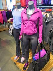 A mannequin on display at Under Armour's Harbor East specialty store dons apparel from the company's line of cold weather gear.