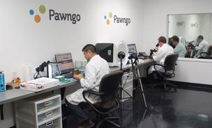 Here's a photo inside Pawngo's vault, where jewelry and watches are among the items assessed. It is a secure facility with biometric security and 48 cameras, with belongings tracked on video from the moment they arrive.