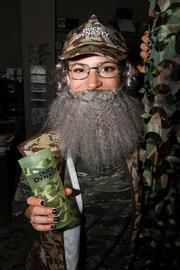 "The hit reality show ""Duck Dynasty"" made a significant presence at FKQ Advertising this year. Jessica Fox, PR specialist, is under the beard."