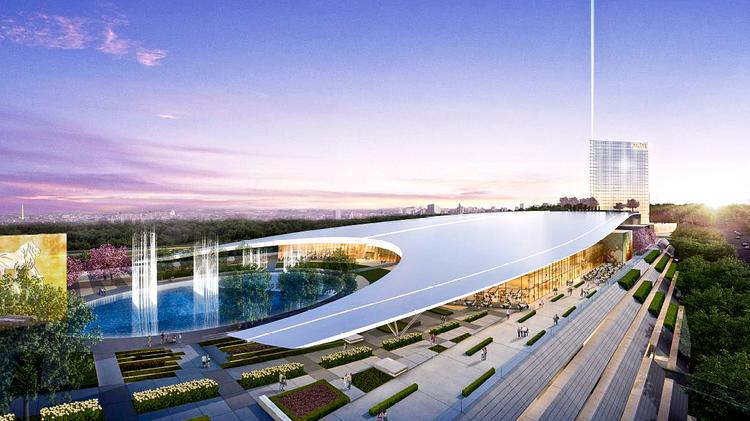 A rendering of MGM's planned casino at National Harbor.