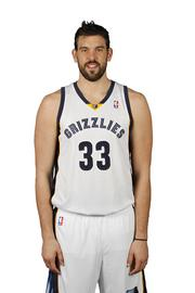 Marc Gasol Position: Center Age: 28 Hometown: Barcelona, Spain (high school in Memphis) College: None Career highlights: 2012-13 NBA Defensive Player of the Year; 2011-12 NBA All-Star Pregame ritual: 'Leave the house at 4:30. Get here at 5:00 and get to work. Everything is organized.'  Favorite ride: Mercedes S-65 Role with the Grizzlies this year: 'I always try to do the best I can, but I probably need to be a little more aggressive to the basket and assertive at times. Instead of trying to get everybody else going, I've got to get me going.' To stay focused on the road: 'When you've been in the league for a few years, you have a routine in every city with a certain restaurant or certain people.' Lives in the offseason: Spain