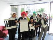 "Staff from Ideal Image dressed up as Monopoly-themed characters, which they called, ""Idealopoly."""