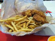 PDQ chicken and fries