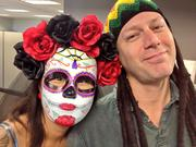 Sarah Spratley and Eric Johnson from the Tampa Bay Business Journal have a fun moment on Halloween.