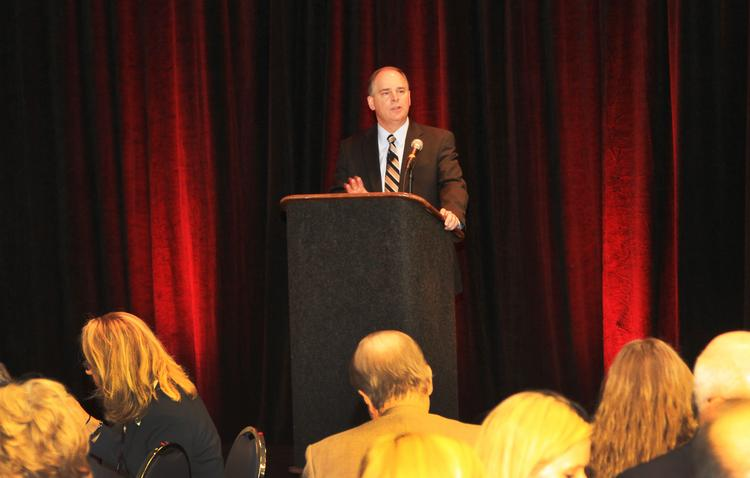 AEP CEO Nick Akins spoke Thursday at the Ohio's Energy Future symposium presented by Ohio Advanced Energy Economy and Columbus Business First.