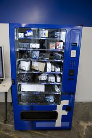 You won't find donuts or candy bars in this vending machine.