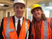 Dennis Van Wynsberghe, vice president of dinning services,  and Brenda Hunt, vice president of fun (yes, that's her title).