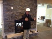 Mike Longfellow, senior vice president, shows off the main community room.