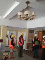 Ceiling and amenities.