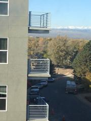 Mountain view from fourth floor. The balconies belong to the 362-unit Veranda HighPointe apartments being built by Forum Real Estate Group LLC.