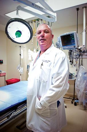 John Lunde, director of trauma services, displayed the Orange Park Medical Centers trauma unit in December 2011.
