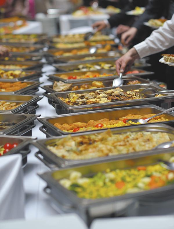 The standard corporate party buffet line may be replaced by more exotic, unique cuisine offerings in 2014.
