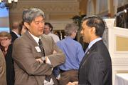 Dr. Edward Yoon, medical director of event sponsor Blue Shield of Northeastern NY, and state Health Commissioner Dr. Nirav Shah