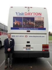 Each of these motor coaches annually logs approximately 60,000 miles across the region and nation and will be promoting the Dayton and Montgomery County area with the different moving billboards.