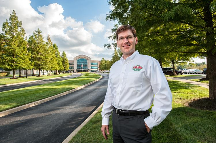 "Tony Thompson, president of Papa John's International Inc., is shown on the grounds of the company's headquarters. ____________________________________________      Tony Thompson President and chief operating officer of Papa John's International Inc. Age: 47 Work experience: Gulf Coast Coca-Cola Bottling Co., Baton Rouge, La., various roles, 1989-96; Conagra Grocery Products Co., operations leader, manufacturing manager and plant manager, various locations, 1996-2000; Scotts Miracle-Gro Co., Marysville, Ohio, plant manager, director of Marysville operations, director of lawn and controls operations, 2000-06; Papa John's International Inc., vice president of quality control operations, executive vice president and president of PJ Food Service Inc., and president of research and development, 2006-August 2013, president and chief operating officer, August-present Education: Bachelor's degree in economics, Louisiana State University, 1995 Birthplace: Baltimore Wife: Susan Thompson, for 27 years Children: Scott, 23, Danielle, 21, Tyler, 18, Deanna, 15, Stevie, 14		 Residence: Goshen Favorite books: ""Good to Great"" series, by Jim Collins; ""Execution: The Discipline of Getting Things Done,"" by Larry Bossidy and Ram Charan Favorite music: Elvis Presley, enjoys rock 'n' roll Hobbies: Golf, tennis, exercising, playing guitar, spending time with family"