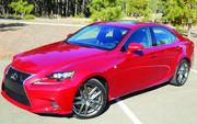 The 2014 Lexus 1S350 all-wheel drive sedan has a list price of $49,600, as pictured.