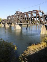 The I Street bridge connecting Old Sacramento with West Sacramento is more than 100 years old. A planned replacement bridge will cost $86 million.