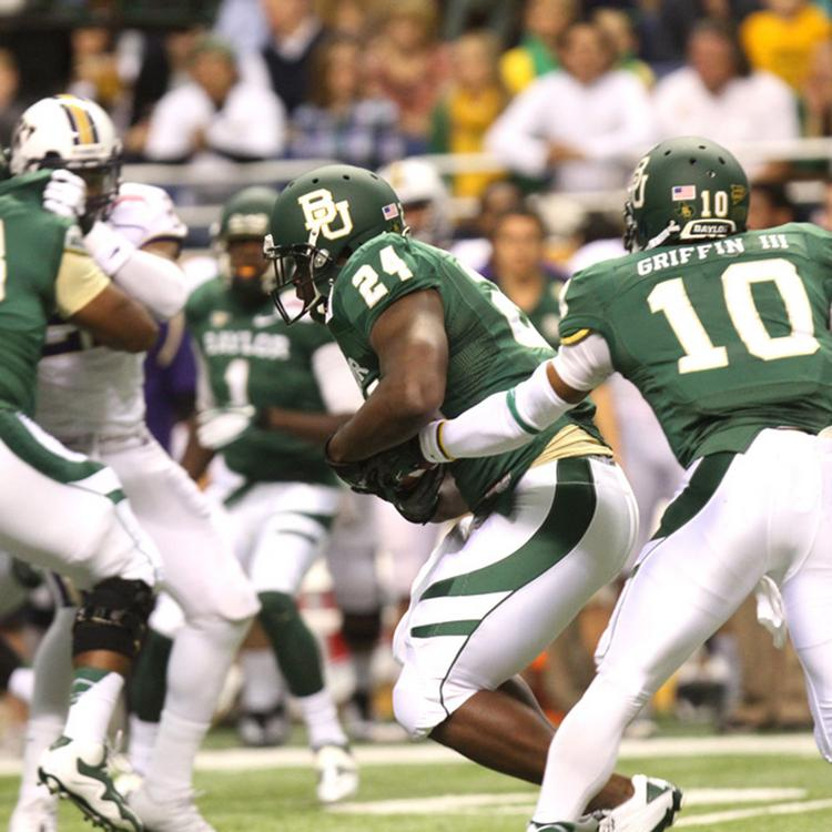 Former Baylor quarterback Robert Griffin III leads the Bears to victory in the 2012 Valero Alamo Bowl.