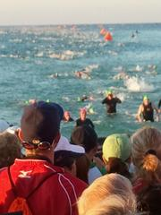 The swim is the toughest part of the triathlon for Mark Freid.