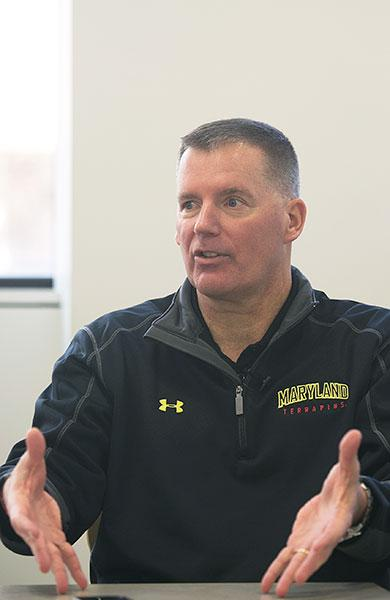 The University of Maryland's football facilities will need to improve to compete in the Big Ten, says head coach Randy Edsall.