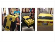 Bumblebee transforms at Cushman & Wakefield's Fort Lauderdale office.
