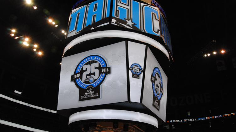 The arena's jumbotron will show the perspective of Orlando Magic talent as they wear Google Glass.