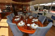 """Aft deck dinning area of the """"Bread"""""""