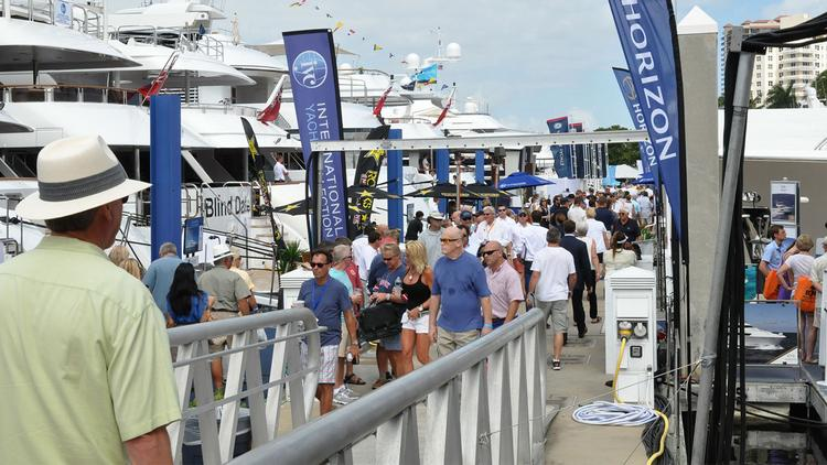 Crowds at the 54th Annual Fort Lauderdale International Boat Show.