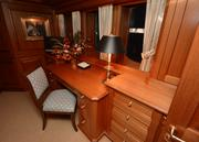 """The private office onboard the 163-foot yacht """"Inevitable."""""""