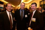 Cory VanGundy with Magenic, from left; Colin Sims with Sales force.com; and Jim Hasty with Magenic.
