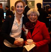 Anne Park with Hopkins Korn/Ferry, left; and Sandra Hofman with TiECOBA.