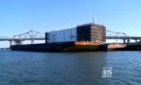Googles mysterious barge off the coast of San Fransico.