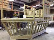 The beginnings of a pirate ship play structure at Snodgrass & Sons Construction Co.