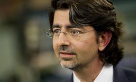 Pierre Omidyar, chairman and founder of eBay Inc., speaks during a television interview in New York in 2010.