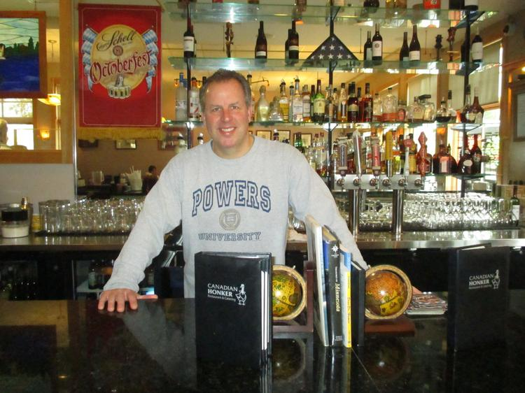 Rochester catering company and restaurant owner Joe Powers in his downtown restaurant, the Canadian Honker. Powers is one of several folks in town to know if you're going to do business in Rochester.