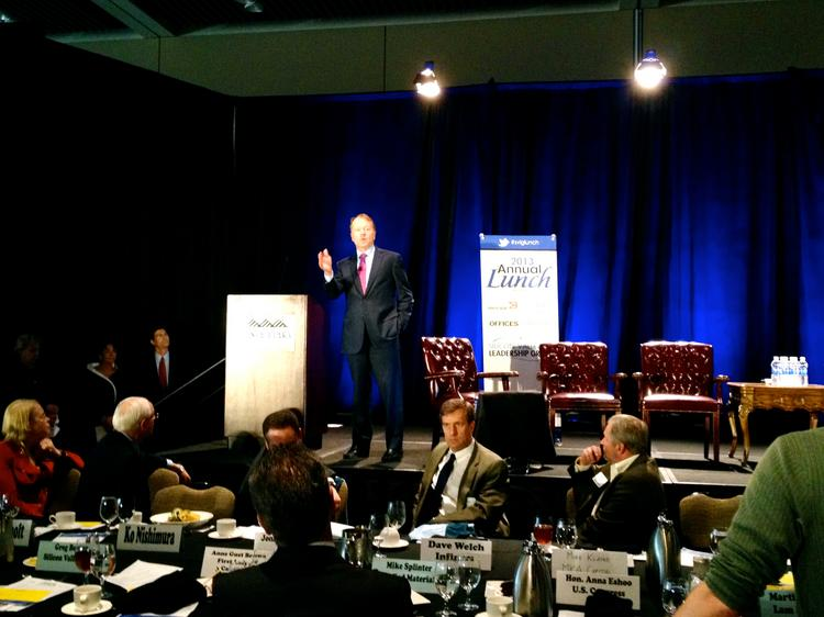 Cisco Systems Inc. CEO John CHambers was one of several technology executives that discussed Silicon Valley policy priorities at the Silicon Valley Leadership Group's annual policy luncheon held Nov. 1.