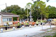 Work continues on the track as well as on the Winter Park SunRail station.