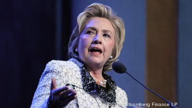Hillary Clinton, former U.S. secretary of state, spoke at the Pennsylvania Conference for Women in Philadelphia