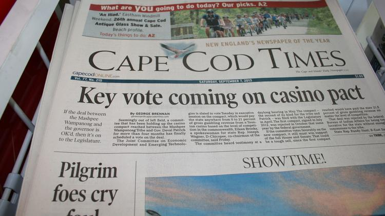 Former Cape Cod Times employees protest layoffs at the paper
