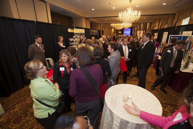 About 300 Milwaukee-area business executives attended the event at The Pfister hotel.