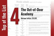 The Out-of-Door Academy in Sarasota is No. 4 by average tuition and No. 11 when ranked by fall 2013 enrollment.